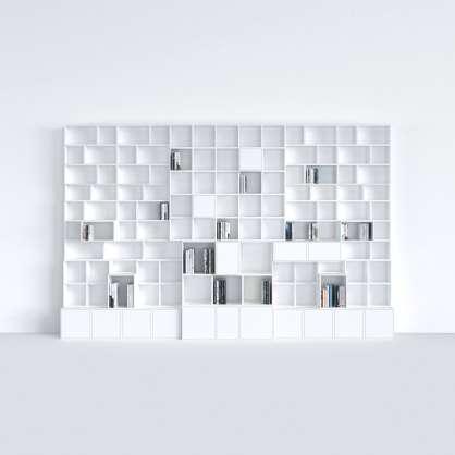 Très grande bibliothèque blanche en cube modulable