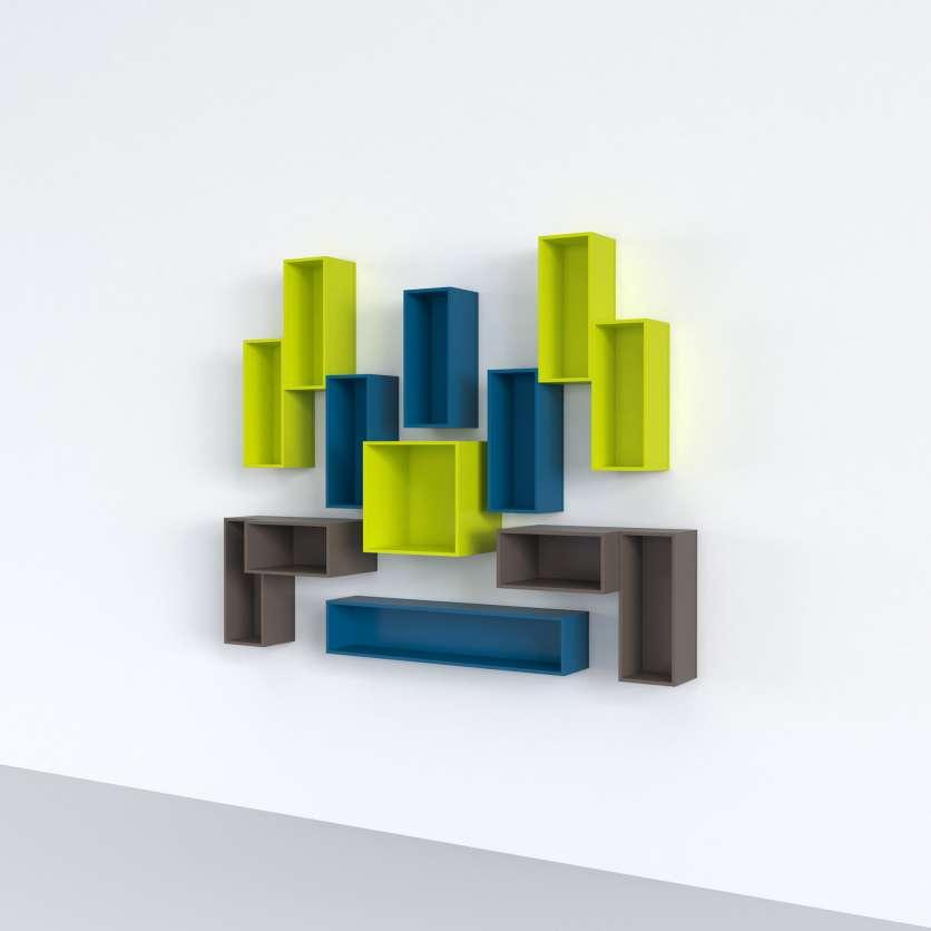 Scaffale a parete originale in design multicolore