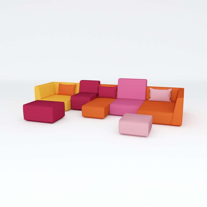 Live without limits: sofa ensemble in cheerful colours