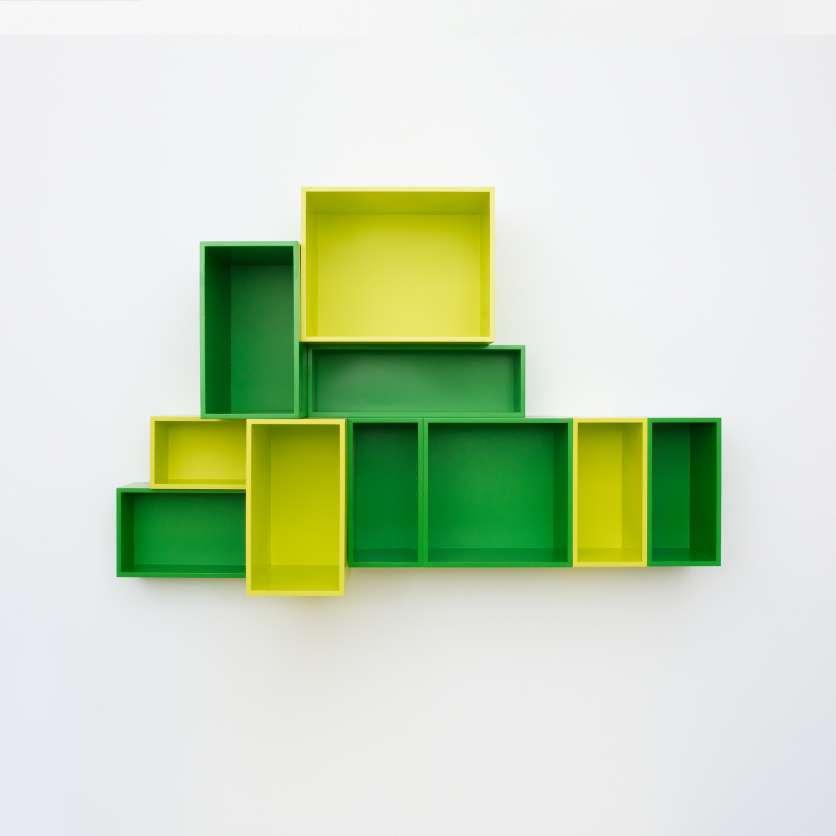 Étagère en hauteur Cubit vert clair et vert foncé