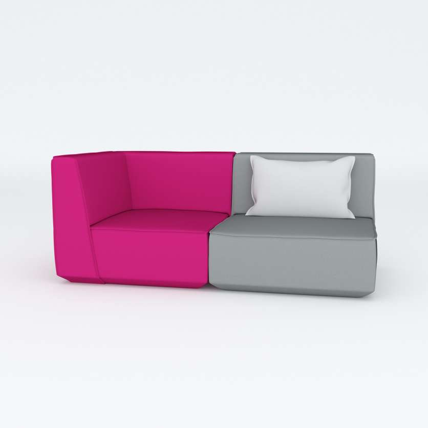 Modular 2-seater in cool elegance