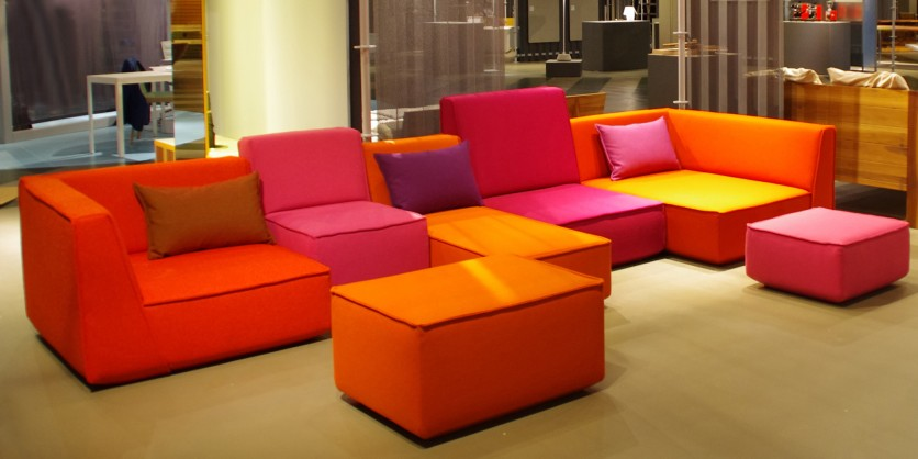 Wild: brightly coloured sofa in various heights, widths, and depths