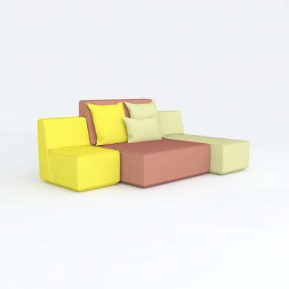Stand-alone chair modules forming an original sofa