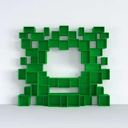 Un mur entièrement vert pour votre salon