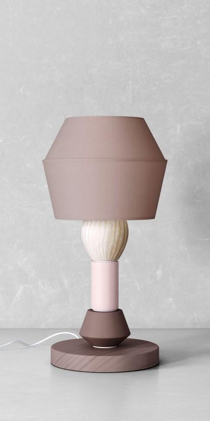 Modular lamp in an unusual style