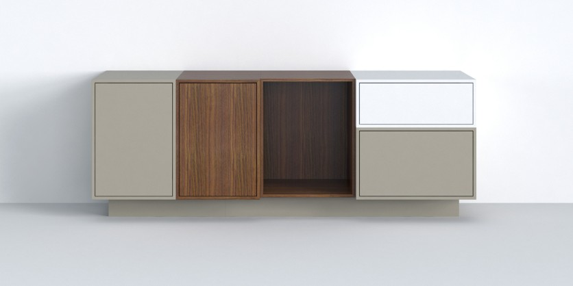 Sideboard with plinth: perfect for the office or living room