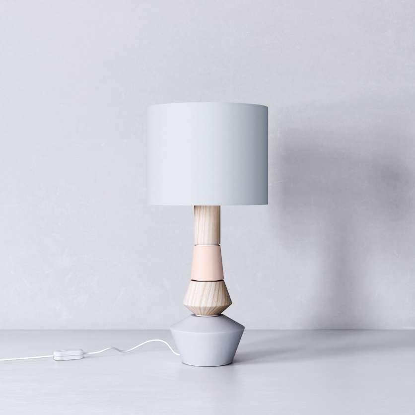 Lampada da tavolo con paralume grigio