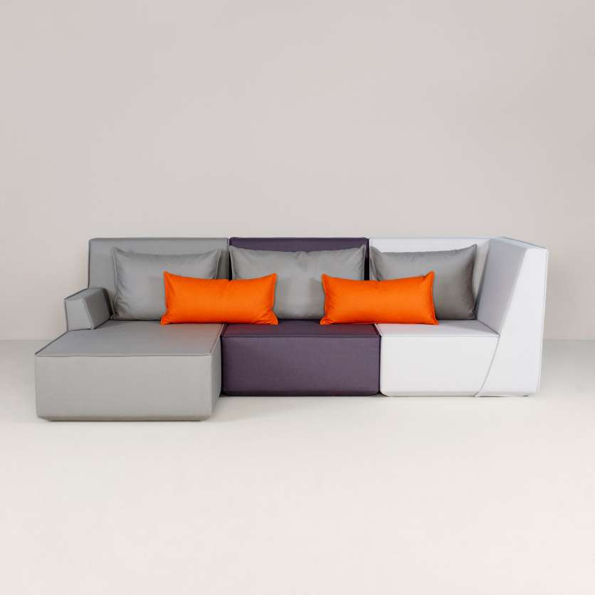 A three-seater sofa with a multitude of variants