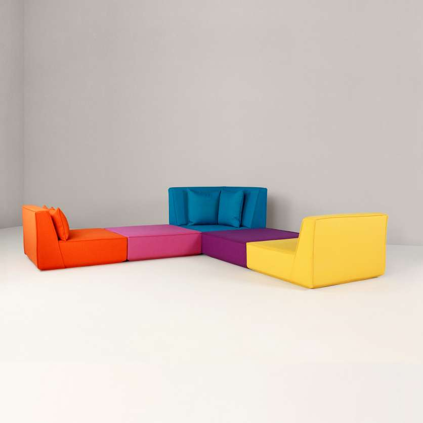 Corner sofa with an extravagant design