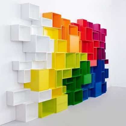 Bibliothek in verschiedenen Farben