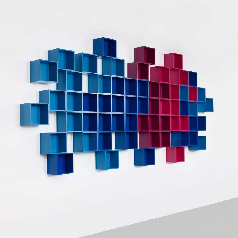 Scaffale a parete modulare ampliabile
