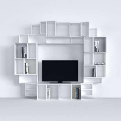 Multimedia Einheit in Weiß