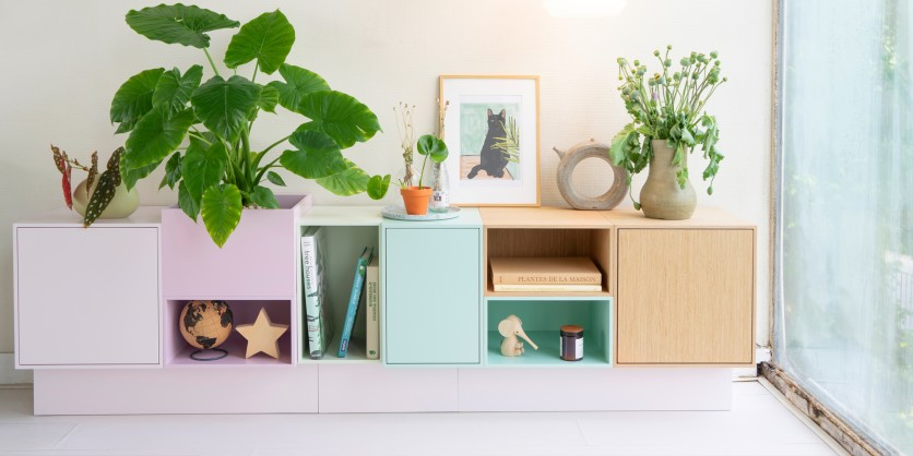 Sideboard in shades of pastel