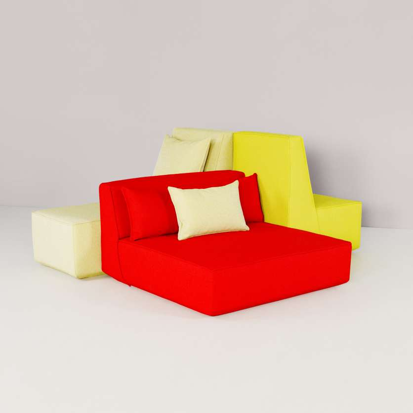 Super-size seating furniture with high-quality fabric covers