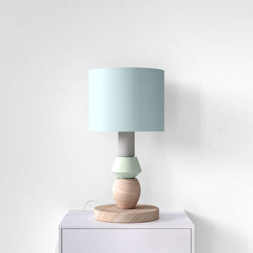 Table lamp in fresh colours
