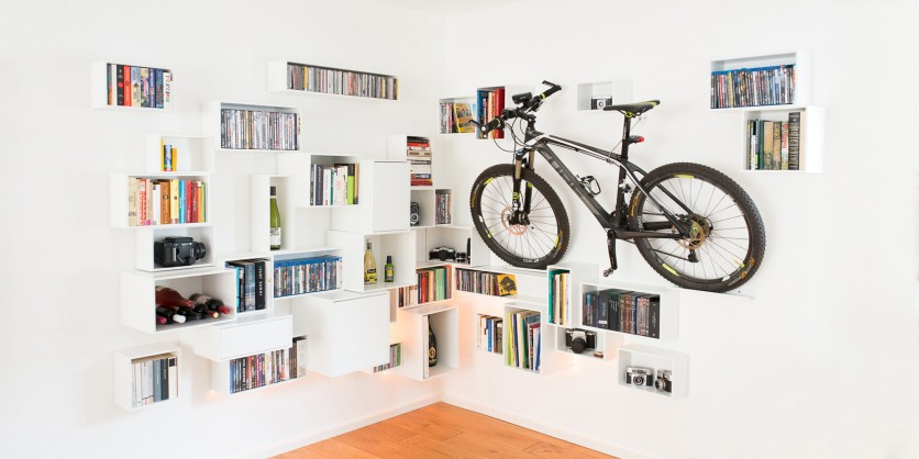 Not just for hipsters: white corner shelving