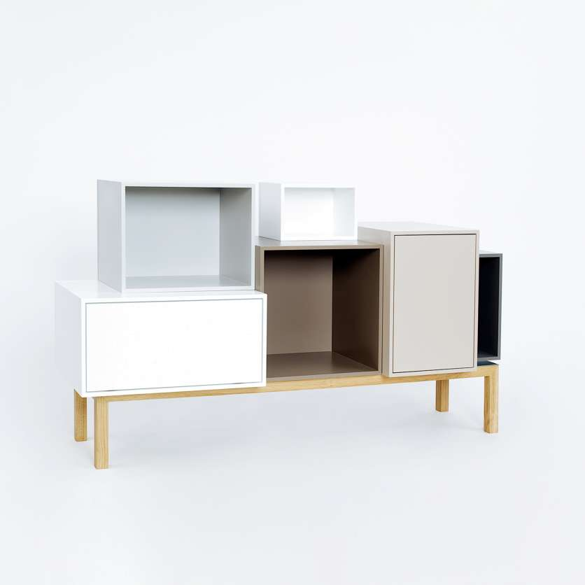 Sideboard in elegant colours with hifi module
