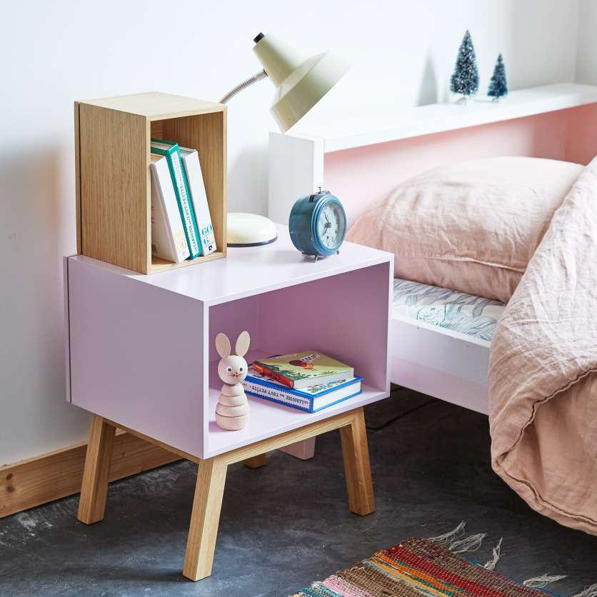 Bedside table in pink