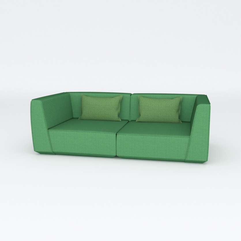Naturally beautiful: modular 2-seater in green